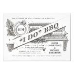Supreme Vintage I Do BBQ Invitations