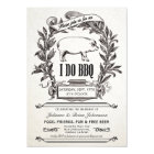 Supreme Vintage I Do BBQ Invitations