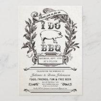 Supreme Vintage I Do BBQ Invitations v.2