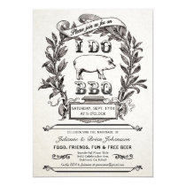 Supreme Vintage I Do BBQ Invitations v.2