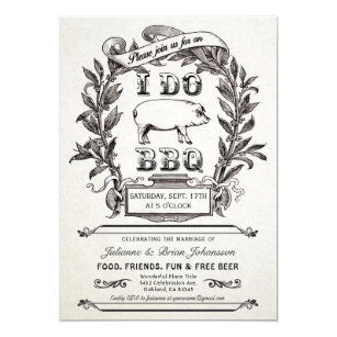 i do bbq invitations zazzle