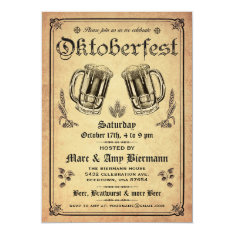 Supreme Vintage Oktoberfest Invitations V.2 at Zazzle