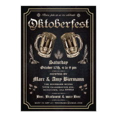 Supreme Vintage Oktoberfest Invitations V.3 at Zazzle