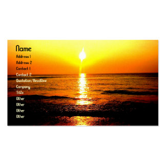 SupremeBeachsunrise, Name, Address 1, Address 2... Business Card Template