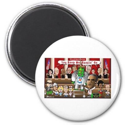 Supremes vs. ObamaCare 3 2 Inch Round Magnet