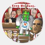 Supremes vs. ObamaCare 3 Classic Round Sticker
