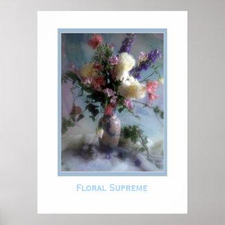 Supremo floral póster