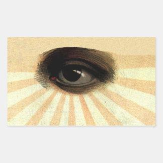 supremo masónico del vintage todo el ojo que ve rectangular altavoz