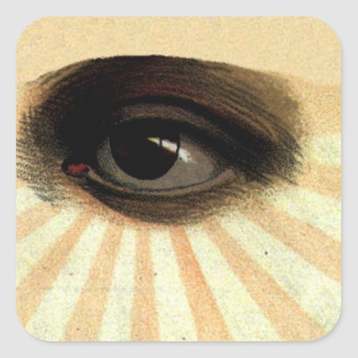 supremo masónico del vintage todo el ojo que ve pegatina cuadrada
