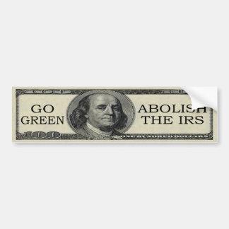 Suprima a la pegatina para el parachoques del IRS Pegatina Para Auto