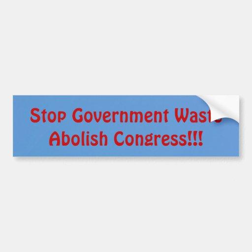 Suprima al congreso pegatina para auto