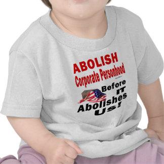 Suprima CorporatePersonhood antes de que nos supri Camisetas