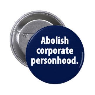 Suprima el botón corporativo del Personhood