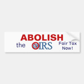 Suprima el IRS Pegatina Para Auto