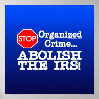 ¡Suprima el IRS Posters