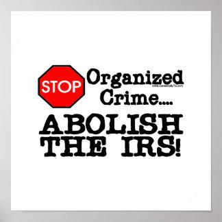 ¡Suprima el IRS Poster