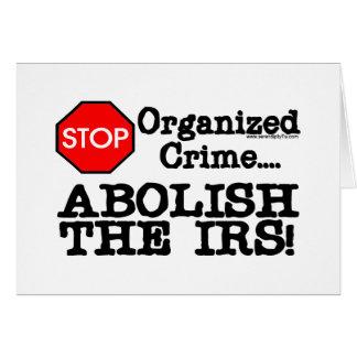 ¡Suprima el IRS Tarjetón