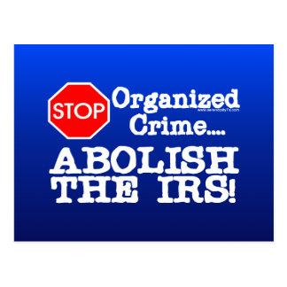 ¡Suprima el IRS Postales
