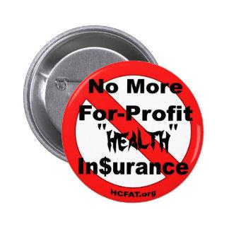 Suprima el seguro médico del Para-Beneficio Pin Redondo De 2 Pulgadas