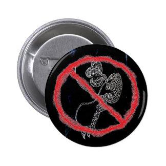 Suprima el virus de DA Pin Redondo 5 Cm