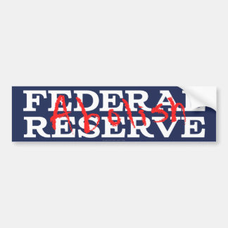 Suprima Federal Reserve Etiqueta De Parachoque