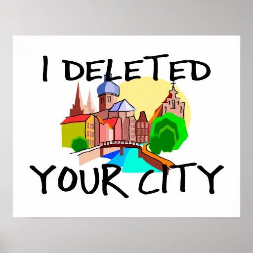 Suprimí su ciudad póster