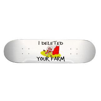Suprimí su granja tabla de patinar