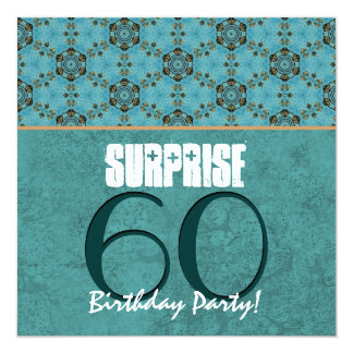 SUPRISE 60th Birthday Party Aqua and Teal Template