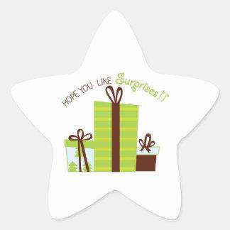 Suprise Presents Star Sticker
