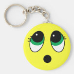 """""""Suprise"""" Smiley Face Assortment Basic Round Button Keychain"""