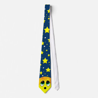 """""""Suprise"""" Smiley Face: Starry Sky Tie"""