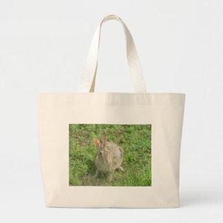 Suprised Bunny Large Tote Bag