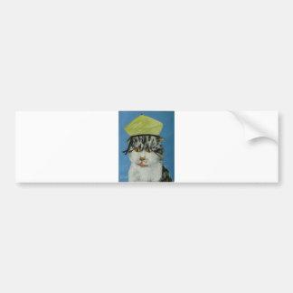 suprised cat car bumper sticker