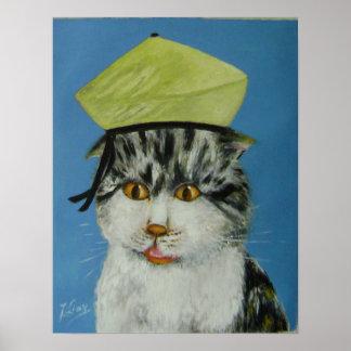 suprised cat print