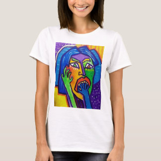 Suprised  Woman by Piliero T-Shirt
