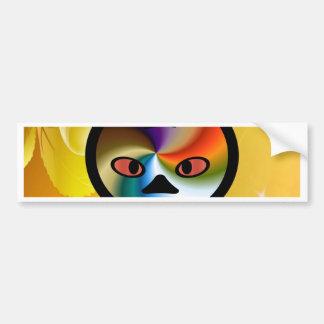 suprising face fun and cute car bumper sticker