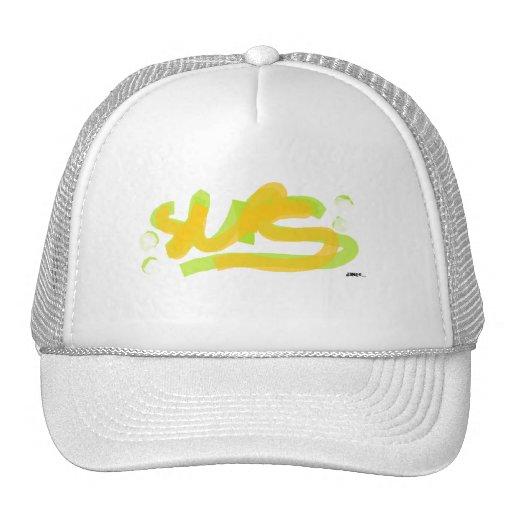 Sups White Two cap Trucker Hat