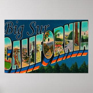 Sur grande, California - escenas grandes de la let Póster