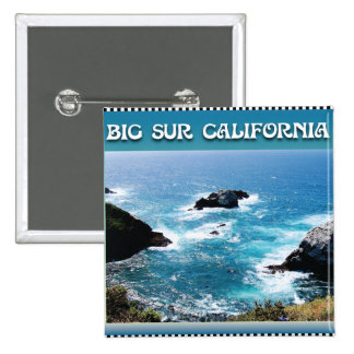Sur grande California Pin Cuadrada 5 Cm