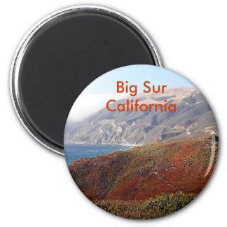 Sur grande, paisaje de California Imán Redondo 5 Cm