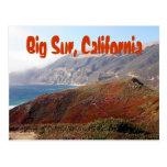 Sur grande, paisaje de California Postales
