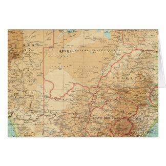 Suráfrica con las rutas de envío tarjeta de felicitación