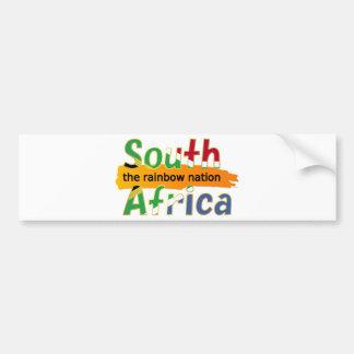 Suráfrica: la nación del arco iris pegatina de parachoque