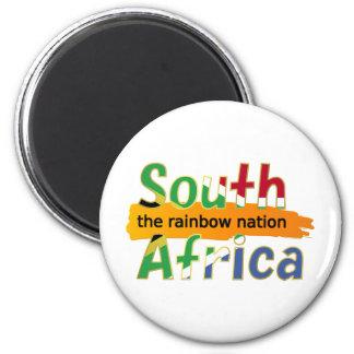 Suráfrica: la nación del arco iris imán redondo 5 cm