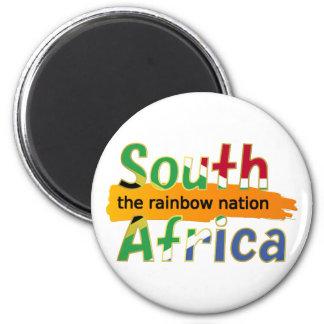 Suráfrica - la nación del arco iris imán redondo 5 cm