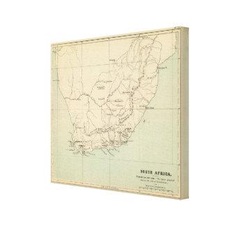 Suráfrica litografió el mapa impresiones de lienzo