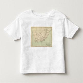 Suráfrica litografió el mapa tshirts