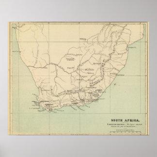 Suráfrica litografió el mapa póster