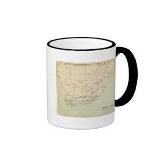 Suráfrica litografió el mapa taza de café