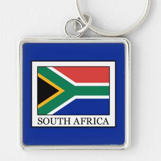 Suráfrica Llavero Cuadrado Plateado